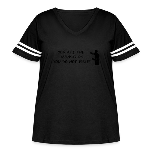 Fight the Monsters - Women's Curvy Vintage Sport T-Shirt