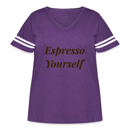 Espresso Yourself Women's Tee - Women's Curvy Vintage Sport T-Shirt