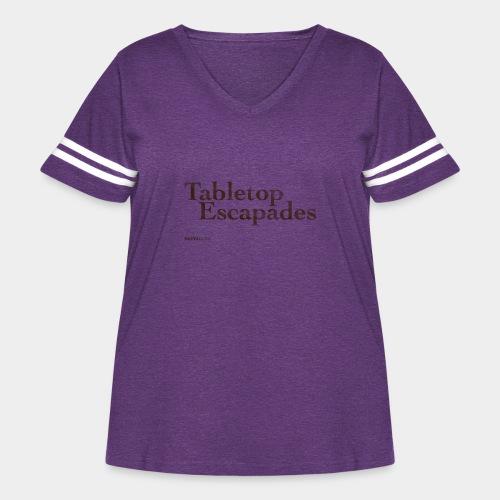 Tabletop Escapades Logo - Women's Curvy Vintage Sport T-Shirt