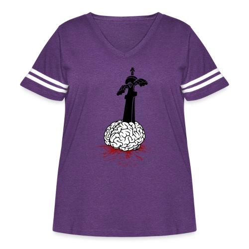 Sword in Brain - Women's Curvy Vintage Sport T-Shirt