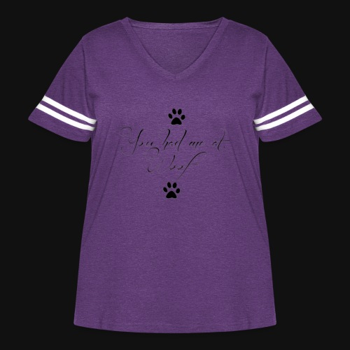 You Had Me At Woof - Women's Curvy Vintage Sport T-Shirt