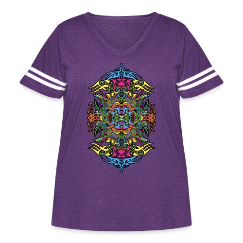 Eternal Voyage 4 - Col - Women's Curvy Vintage Sport T-Shirt