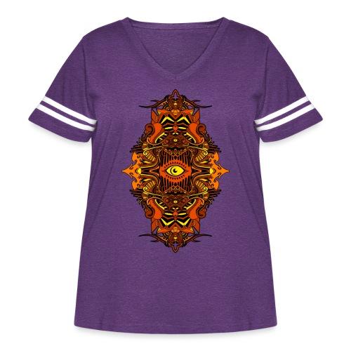 Eternal Voyage III - Fire - Women's Curvy Vintage Sport T-Shirt