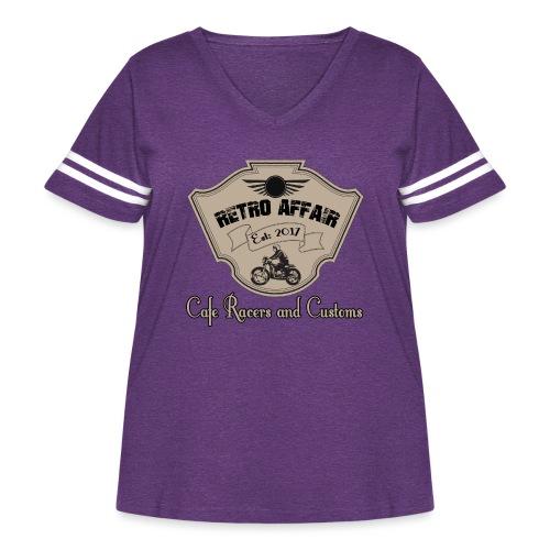 Retro Badge - Women's Curvy Vintage Sports T-Shirt