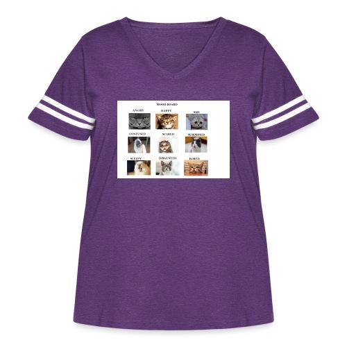 MOOD BOARD - Women's Curvy Vintage Sport T-Shirt