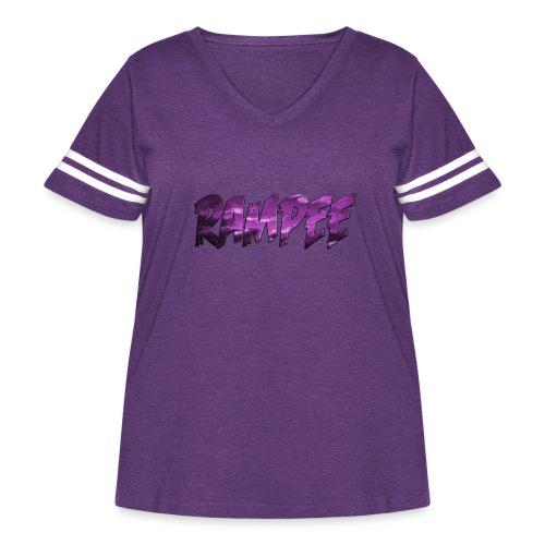 Purple Cloud Rampee - Women's Curvy Vintage Sport T-Shirt