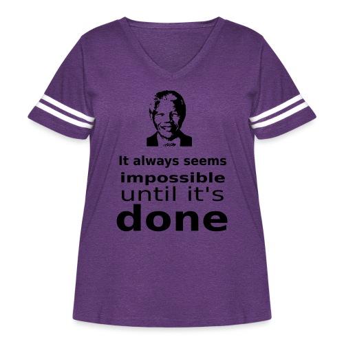 Nelson Mandela Quotes - Women's Curvy Vintage Sport T-Shirt