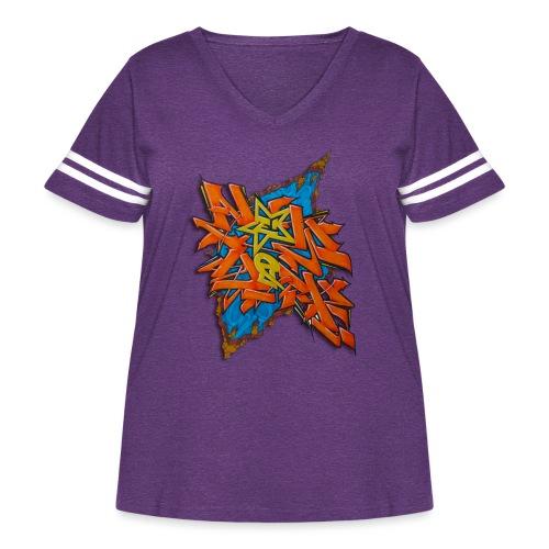 Artgomez14 - NYG Design - Women's Curvy Vintage Sport T-Shirt