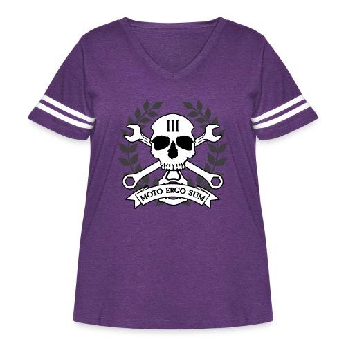 Moto Ergo Sum - Women's Curvy Vintage Sport T-Shirt