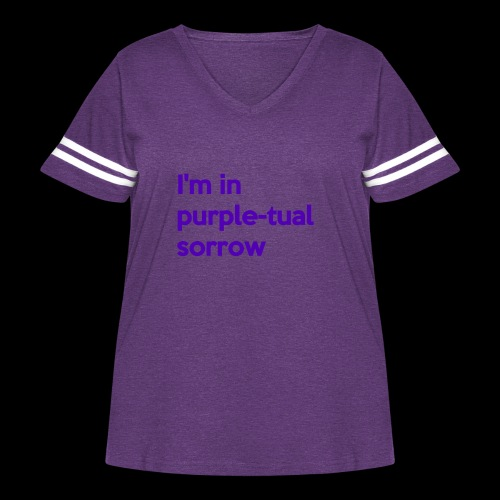 Purple-tual sorrow - Women's Curvy Vintage Sport T-Shirt