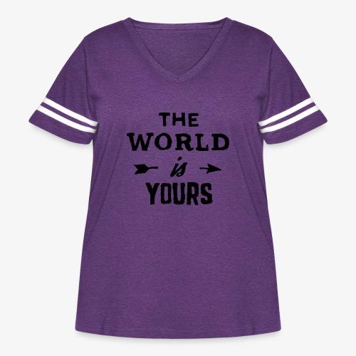 the world - Women's Curvy Vintage Sport T-Shirt