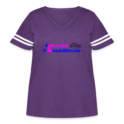 Tardif SteakHouse Blue Pink - Women's Curvy Vintage Sport T-Shirt