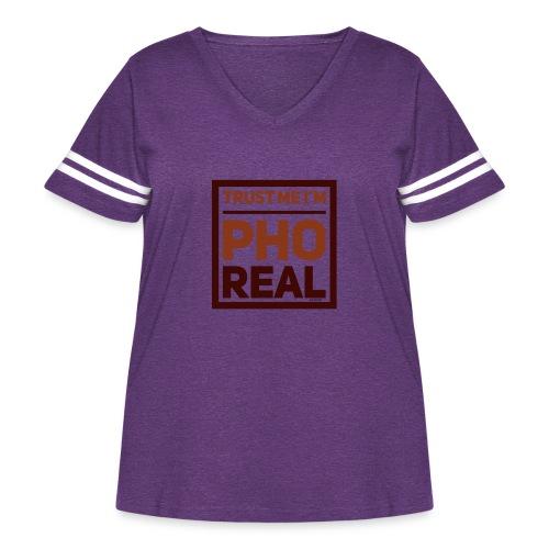 trust me i'm Pho Real - Women's Curvy Vintage Sport T-Shirt