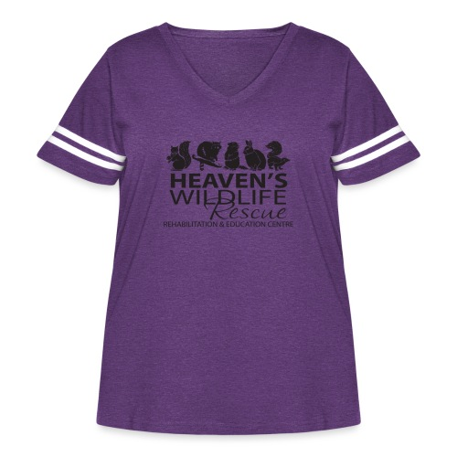Heaven's Wildlife Rescue - Women's Curvy Vintage Sport T-Shirt