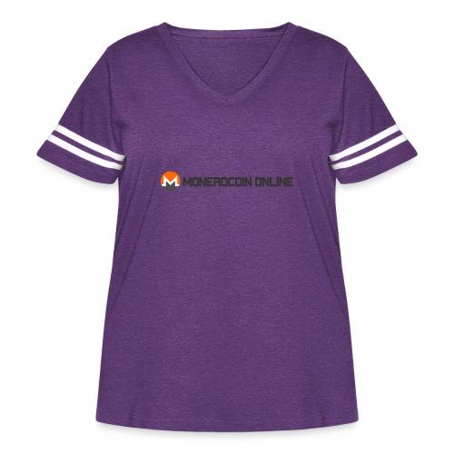 monerocoin online dar - Women's Curvy Vintage Sport T-Shirt