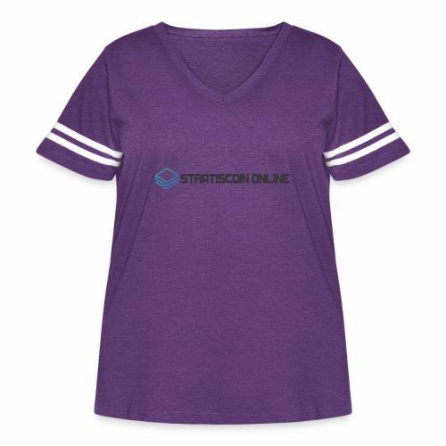 stratiscoin online dark - Women's Curvy Vintage Sport T-Shirt