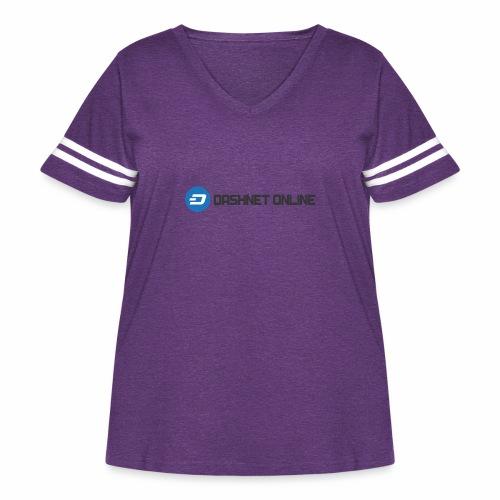 dashnet online dark - Women's Curvy Vintage Sport T-Shirt