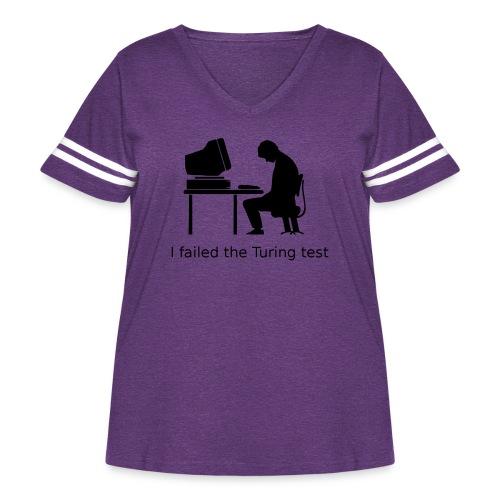 Turing test - Women's Curvy Vintage Sport T-Shirt