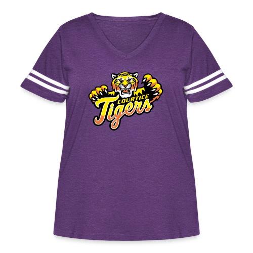 Courtice FINAL - Women's Curvy Vintage Sport T-Shirt