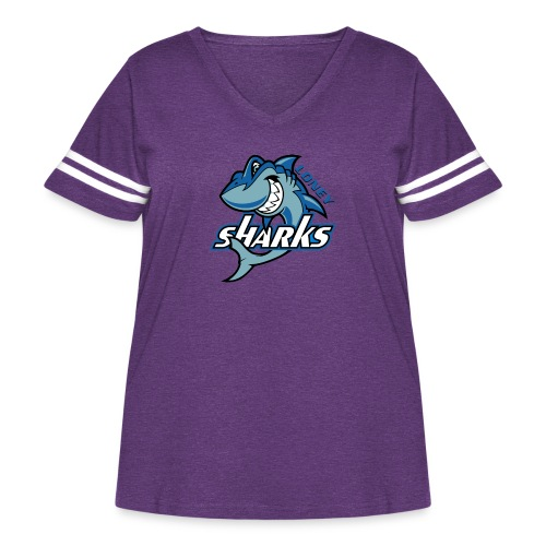 Loney FINAL - Women's Curvy Vintage Sport T-Shirt