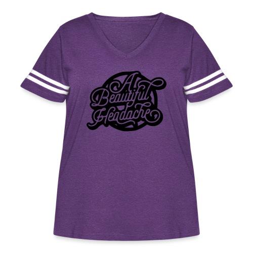 a beautiful headache - Women's Curvy Vintage Sport T-Shirt