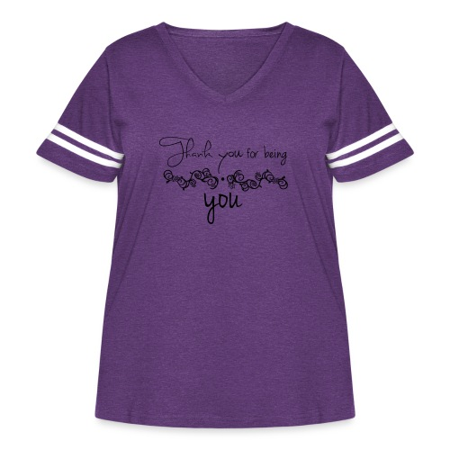 Thank you for being you (black) - Women's Curvy Vintage Sport T-Shirt
