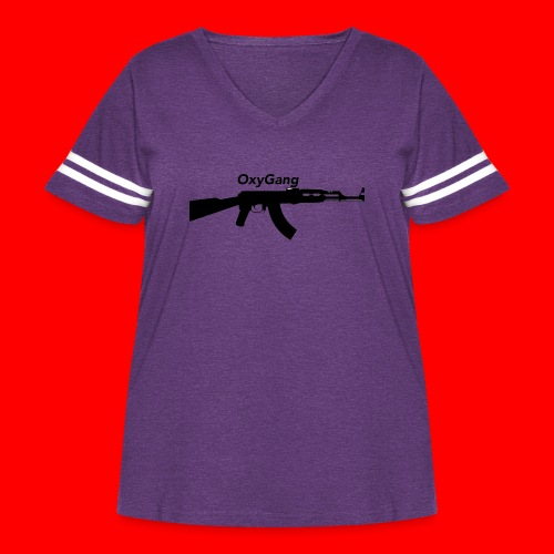OxyGang: AK-47 Products - Women's Curvy Vintage Sport T-Shirt