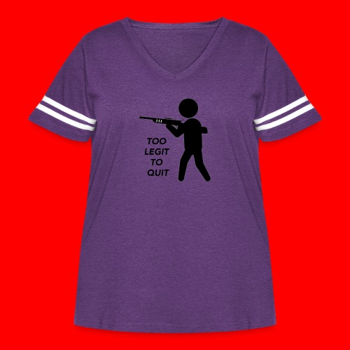 OxyGang: Too Legit To Quit Products - Women's Curvy Vintage Sport T-Shirt