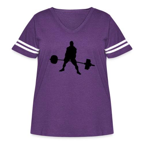 Powerlifting - Women's Curvy Vintage Sport T-Shirt