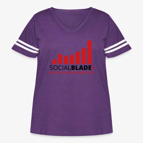 Traditional Logo Tagline - Women's Curvy Vintage Sport T-Shirt