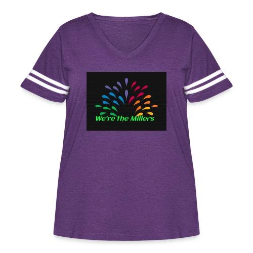 We're the Millers logo 1 - Women's Curvy Vintage Sport T-Shirt