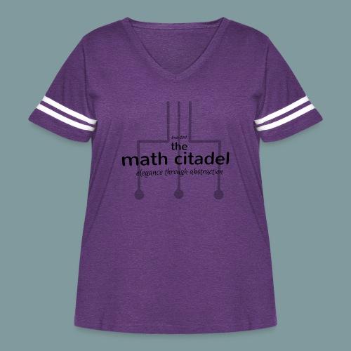 Abstract Math Citadel - Women's Curvy Vintage Sport T-Shirt