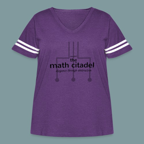Abstract Math Citadel - Women's Curvy Vintage Sport T-Shirt