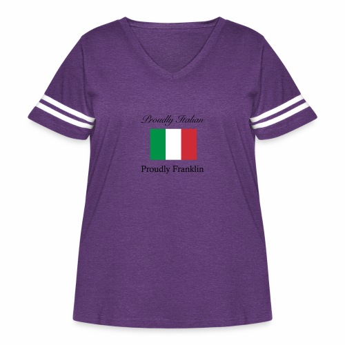 Proudly Italian, Proudly Franklin - Women's Curvy Vintage Sport T-Shirt