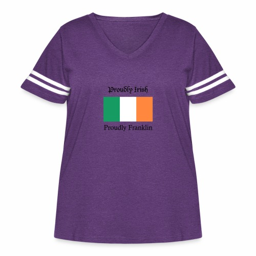 Proudly Irish, Proudly Franklin - Women's Curvy Vintage Sport T-Shirt
