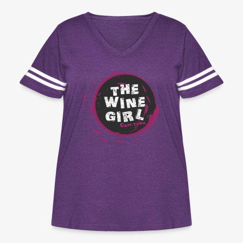 The Wine Girl - Women's Curvy Vintage Sport T-Shirt