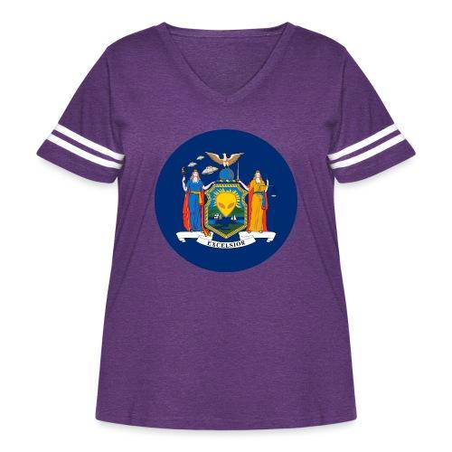 UFO New York - Women's Curvy Vintage Sport T-Shirt