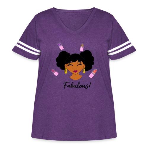 fabulous lipstick - Women's Curvy Vintage Sport T-Shirt