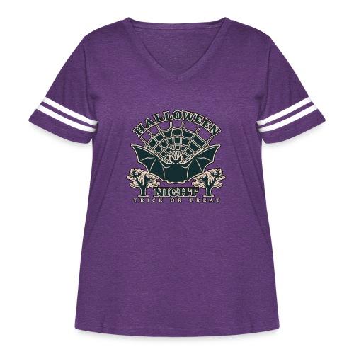 Halloween - Women's Curvy Vintage Sports T-Shirt