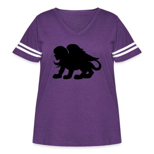 poloshirt - Women's Curvy Vintage Sport T-Shirt