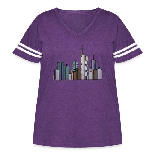 Frankfurt skyline - Women's Curvy Vintage Sport T-Shirt