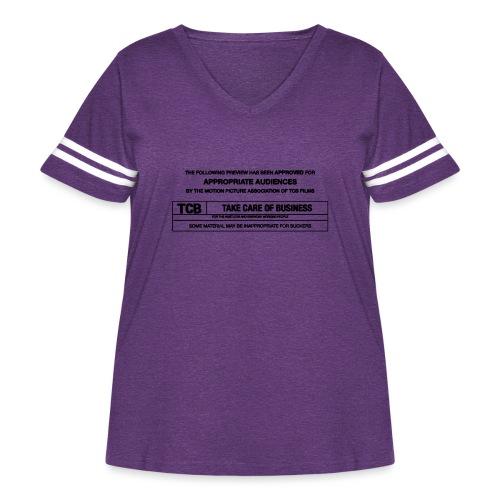 TCB Films Disclamer - Women's Curvy Vintage Sport T-Shirt
