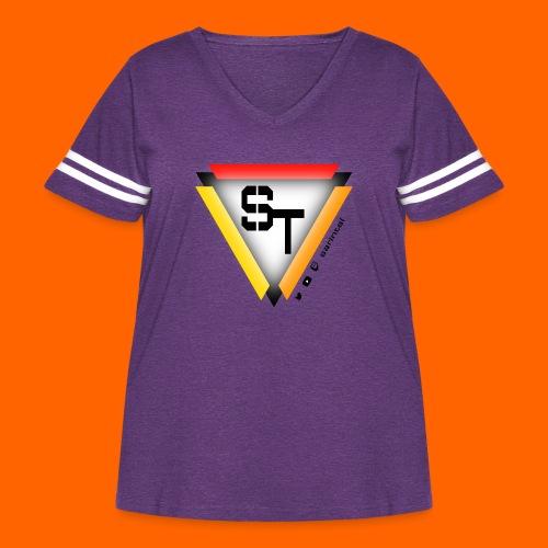 SarinTal Logo - Women's Curvy Vintage Sport T-Shirt