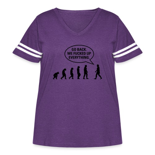 Fucked up Evolution - Women's Curvy Vintage Sport T-Shirt