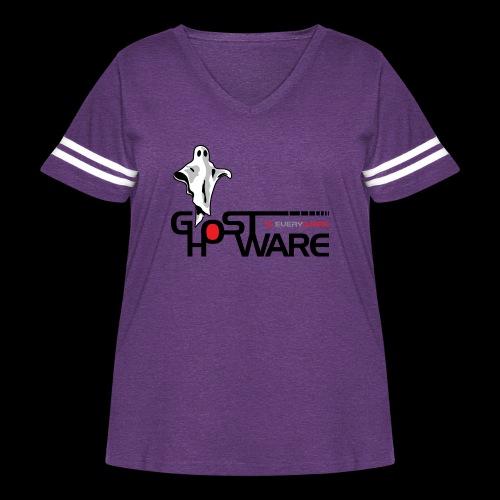 Ghostware Wide Logo - Women's Curvy Vintage Sport T-Shirt