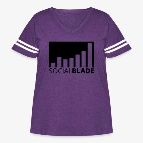 SB Blackout Logo - Women's Curvy Vintage Sport T-Shirt