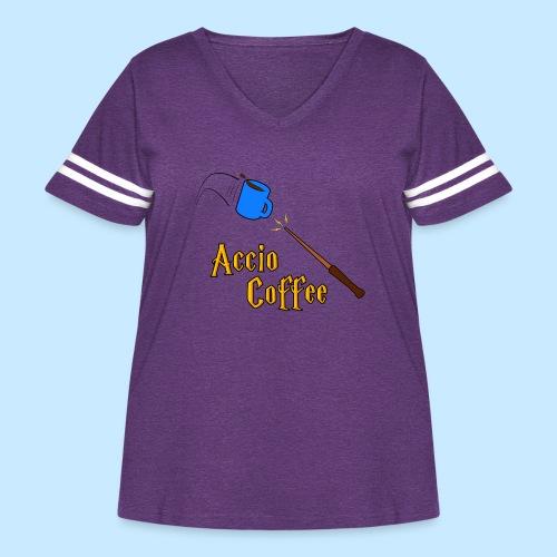 Accio Coffee - Women's Curvy Vintage Sport T-Shirt