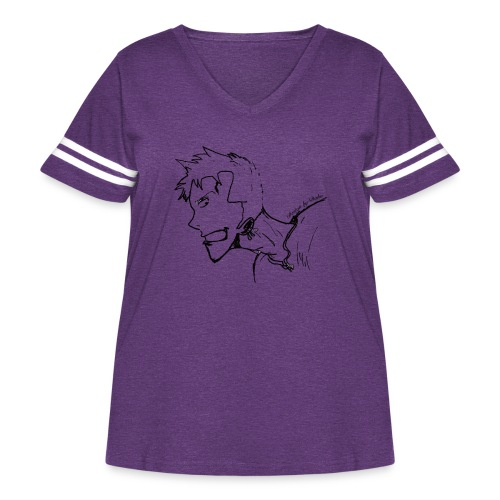 Design by Daka - Women's Curvy Vintage Sport T-Shirt