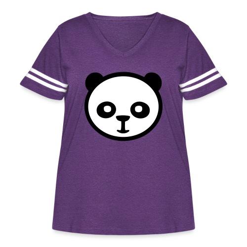 Panda bear, Big panda, Giant panda, Bamboo bear - Women's Curvy Vintage Sport T-Shirt