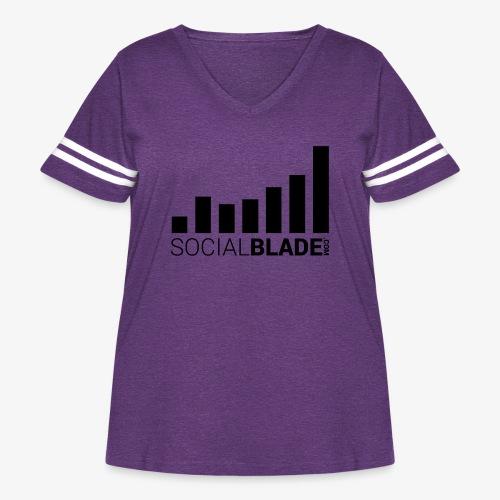 Socialblade (Dark) - Women's Curvy Vintage Sport T-Shirt